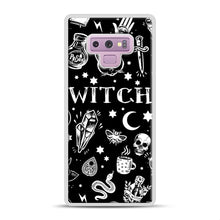 Load image into Gallery viewer, WITCH PATTERN Samsung Galaxy Note 9 Case, White Plastic Case | Webluence.com