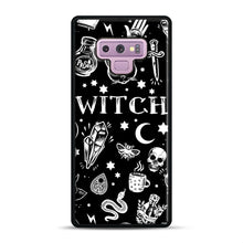 Load image into Gallery viewer, WITCH PATTERN Samsung Galaxy Note 9 Case, Black Rubber Case | Webluence.com
