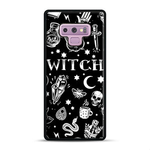 WITCH PATTERN Samsung Galaxy Note 9 Case, Black Rubber Case | Webluence.com