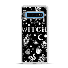 Load image into Gallery viewer, WITCH PATTERN Samsung Galaxy S10 Plus Case, White Plastic Case | Webluence.com
