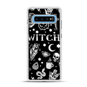 WITCH PATTERN Samsung Galaxy S10 Plus Case, White Rubber Case | Webluence.com