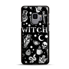Load image into Gallery viewer, WITCH PATTERN Samsung Galaxy S9 Case, Black Plastic Case | Webluence.com