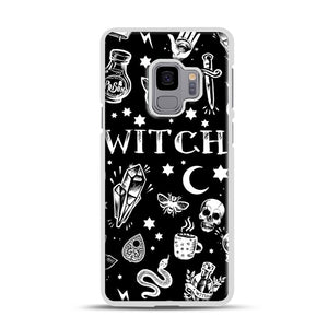 WITCH PATTERN Samsung Galaxy S9 Case, White Plastic Case | Webluence.com