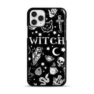 WITCH PATTERN iPhone 11 Pro Case, Black Rubber Case | Webluence.com