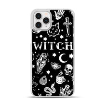 Load image into Gallery viewer, WITCH PATTERN iPhone 11 Pro Case, White Plastic Case | Webluence.com