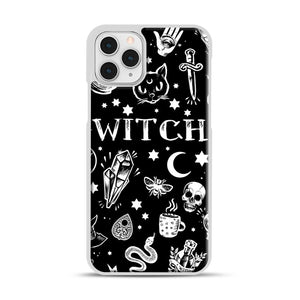 WITCH PATTERN iPhone 11 Pro Case, White Plastic Case | Webluence.com