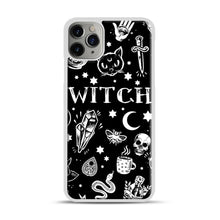 Load image into Gallery viewer, WITCH PATTERN iPhone 11 Pro Max Case.jpg, White Plastic Case | Webluence.com