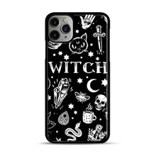Load image into Gallery viewer, WITCH PATTERN iPhone 11 Pro Max Case.jpg, Black Plastic Case | Webluence.com