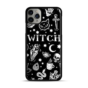 WITCH PATTERN iPhone 11 Pro Max Case.jpg, Black Plastic Case | Webluence.com