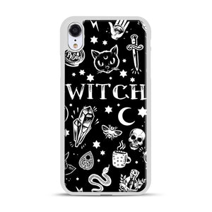 WITCH PATTERN iPhone XR Case, White Rubber Case | Webluence.com