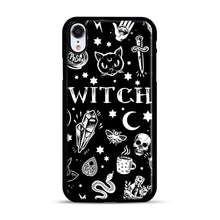 Load image into Gallery viewer, WITCH PATTERN iPhone XR Case, Black Rubber Case | Webluence.com