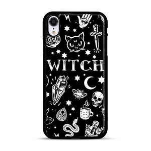 WITCH PATTERN iPhone XR Case, Black Rubber Case | Webluence.com