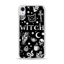 Load image into Gallery viewer, WITCH PATTERN iPhone XR Case, White Plastic Case | Webluence.com