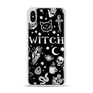WITCH PATTERN iPhone XS Max Case, White Rubber Case | Webluence.com
