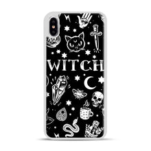 Load image into Gallery viewer, WITCH PATTERN iPhone XS Max Case, White Plastic Case | Webluence.com
