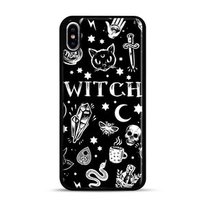 WITCH PATTERN iPhone XS Max Case, Black Rubber Case | Webluence.com