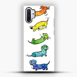 Watercolor Dachshunds Samsung Galaxy Note 10 Plus Case, Snap Case | Webluence.com