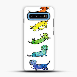 Watercolor Dachshunds Samsung Galaxy S10 Case, Snap Case | Webluence.com
