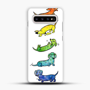 Watercolor Dachshunds Samsung Galaxy S10 Plus Case, Snap Case | Webluence.com