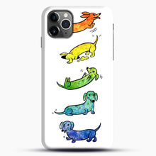 Load image into Gallery viewer, Watercolor Dachshunds iPhone 11 Pro Max Case.jpg, Snap Case | Webluence.com