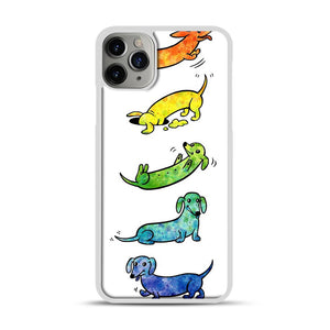 Watercolor Dachshunds iPhone 11 Pro Max Case.jpg, White Plastic Case | Webluence.com