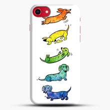 Load image into Gallery viewer, Watercolor Dachshunds iPhone 7/8 Case.jpg, Snap Case | Webluence.com