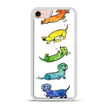 Load image into Gallery viewer, Watercolor Dachshunds iPhone 7/8 Case.jpg, White Rubber Case | Webluence.com