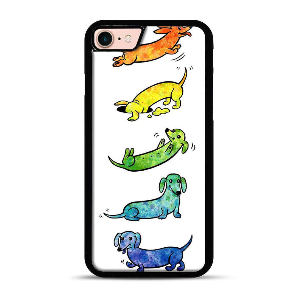 Watercolor Dachshunds iPhone 7/8 Case.jpg, Black Plastic Case | Webluence.com