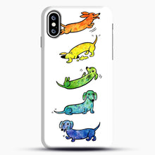 Load image into Gallery viewer, Watercolor Dachshunds iPhone XS Max Case, Snap Case | Webluence.com