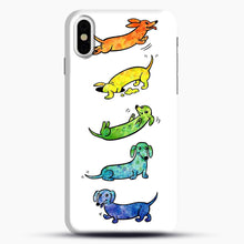 Load image into Gallery viewer, Watercolor Dachshunds iPhone X/XS Case, Snap Case | Webluence.com