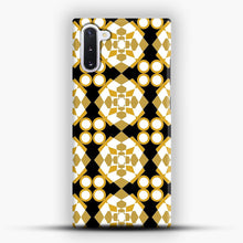 Load image into Gallery viewer, White Gold Pattern Samsung Galaxy Note 10 Case, Snap Case | Webluence.com
