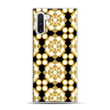 Load image into Gallery viewer, White Gold Pattern Samsung Galaxy Note 10 Case, White Rubber Case | Webluence.com