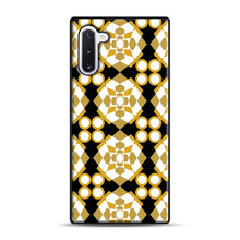 Load image into Gallery viewer, White Gold Pattern Samsung Galaxy Note 10 Case, Black Rubber Case | Webluence.com