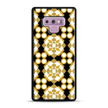Load image into Gallery viewer, White Gold Pattern Samsung Galaxy Note 9 Case, Black Rubber Case | Webluence.com