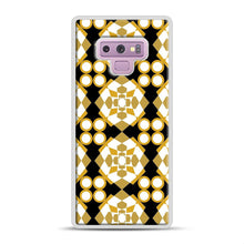 Load image into Gallery viewer, White Gold Pattern Samsung Galaxy Note 9 Case, White Rubber Case | Webluence.com