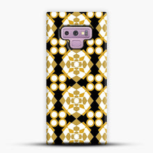 Load image into Gallery viewer, White Gold Pattern Samsung Galaxy Note 9 Case, Snap Case | Webluence.com