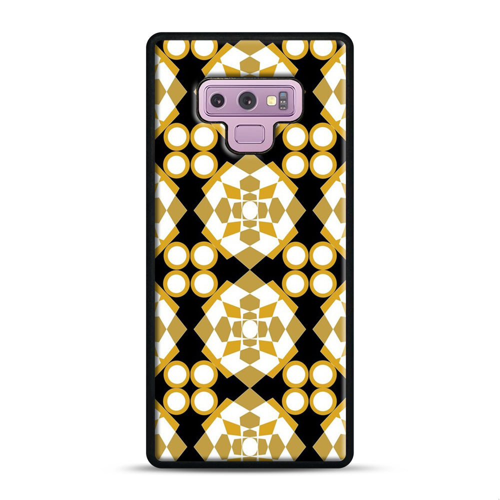 White Gold Pattern Samsung Galaxy Note 9 Case, Black Plastic Case | Webluence.com
