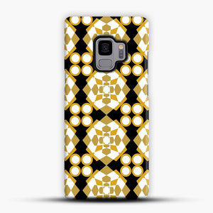White Gold Pattern Samsung Galaxy S9 Case, Snap Case | Webluence.com