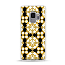 Load image into Gallery viewer, White Gold Pattern Samsung Galaxy S9 Case, White Rubber Case | Webluence.com