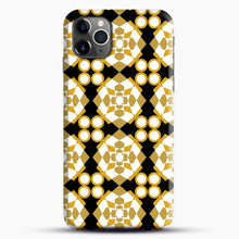 Load image into Gallery viewer, White Gold Pattern iPhone 11 Pro Max Case.jpg, Snap Case | Webluence.com