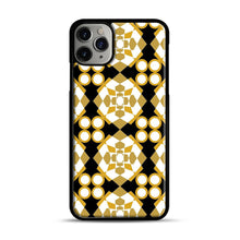 Load image into Gallery viewer, White Gold Pattern iPhone 11 Pro Max Case.jpg, Black Plastic Case | Webluence.com