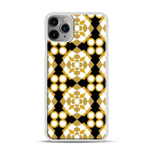Load image into Gallery viewer, White Gold Pattern iPhone 11 Pro Max Case.jpg, White Plastic Case | Webluence.com