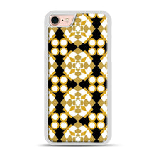 Load image into Gallery viewer, White Gold Pattern iPhone 7/8 Case.jpg, White Rubber Case | Webluence.com