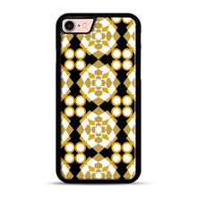 Load image into Gallery viewer, White Gold Pattern iPhone 7/8 Case.jpg, Black Plastic Case | Webluence.com