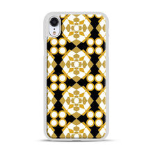 Load image into Gallery viewer, White Gold Pattern iPhone XR Case, White Plastic Case | Webluence.com
