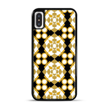 Load image into Gallery viewer, White Gold Pattern iPhone X/XS Case, Black Rubber Case | Webluence.com