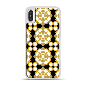 White Gold Pattern iPhone X/XS Case, White Rubber Case | Webluence.com