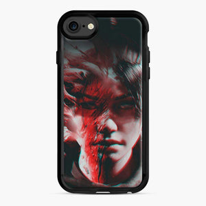 Wraith Distorted Fortnite iPhone 7 / 8 Case, Black Rubber Case