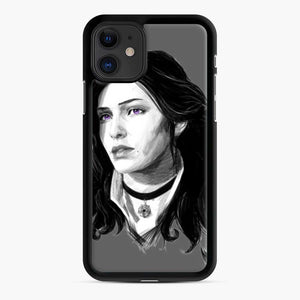 Yennifer From The Witcher 3 Wild Hunt Game iPhone 11 Case, Black Rubber Case