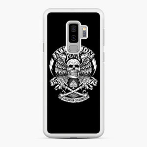 affliction American Custom 1973 Samsung Galaxy S9 Plus Case, White Rubber Case | Webluence.com
